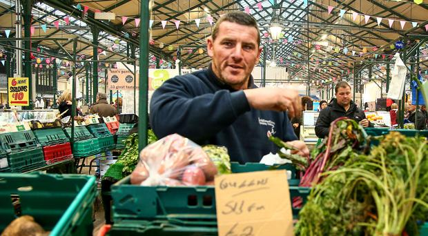 Gerry Lappin at his fruit and vegetable stall