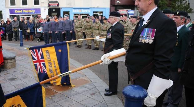 Lowering the standards for the two minute silence held on Armistice Day in Coleraine