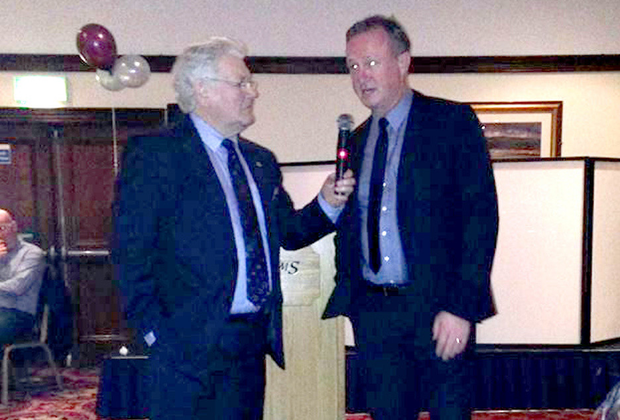 Michael O'Neill speaks to host Jackie Fullerton at the event