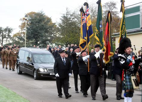 More than 200 people attended the funeral of John Kearns following an article about him in the Derby Telegraph