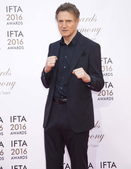 Liam Neeson is supporting Ireland's Rugby World Cup bid