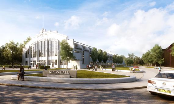 An artist's impression of what the new £100m healthcare site will look like at the King's Hall