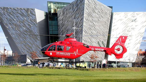The air ambulance helicopters could be moved to Long Kesh