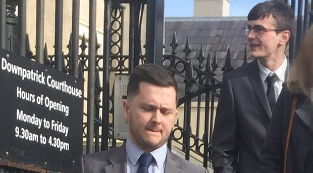 Daryl Kirton (front) and Che McManus at an earlier court appearance