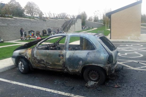 Stolen, torched, abandoned: the remains of a burnt-out vehicle in Londonderry