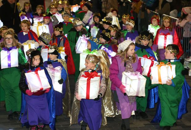 The Christmas parade in Lisburn