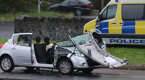 A Renault Clio involved in a road accident, claiming the lives of two nuns in 2014