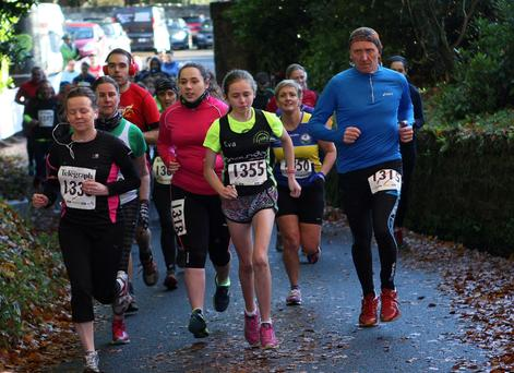 Runners take part in the run at Drum Manor Forest Park, Drum Road, Cookstown