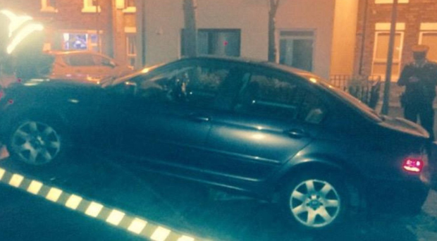A PSNI Facebook post showing a vehicle being seized in west Belfast