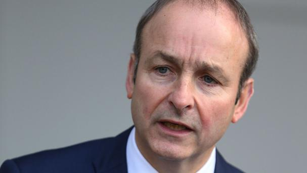Fianna Fail leader Micheal Martin accused Britain of backward-looking nationalism