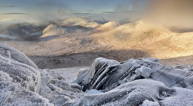 Winter Snow Blankets Mourne Landscape That Inspired Narnia As