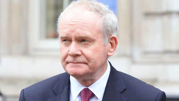 Sinn Fein's Martin McGuinness launched a party policy document on peace building