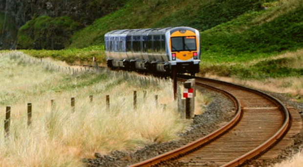 A train on the line, which a campaign group has expressed concerns over