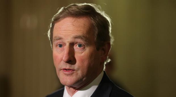 Enda Kenny played down talk of a referendum