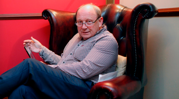 TUV leader Jim Allister relaxing at home