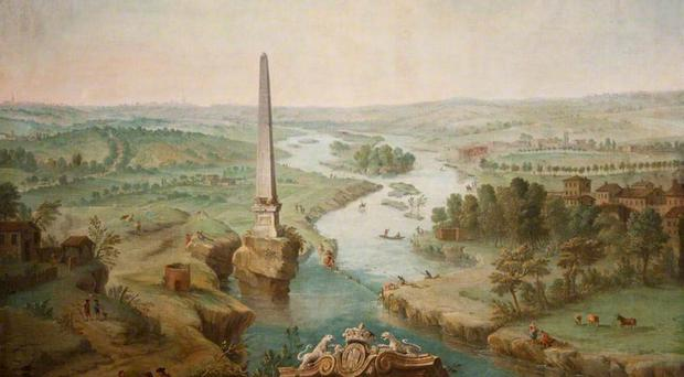 The Obelisk on the Boyne by Joseph Tudor, one of a collection of artworks owned by the Assembly Commission, and worth £250,000