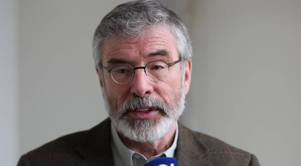 Sinn Fein Leader Gerry Adams said partition was stunting the potential of Ireland