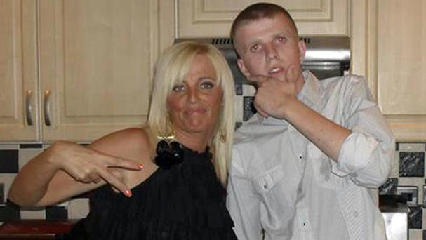 Sean Paul Carnahan with his mother, Tracy, who believes he starved to death in hospital