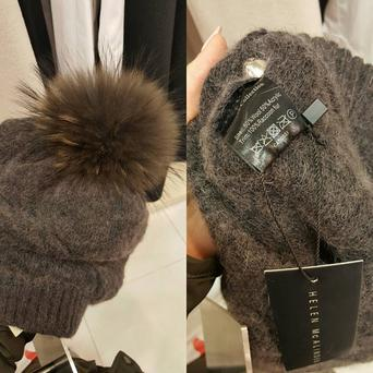 One of the fur hats now removed from shelves at House of Fraser