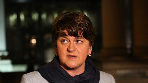 Arlene Foster said she would meet the Pope