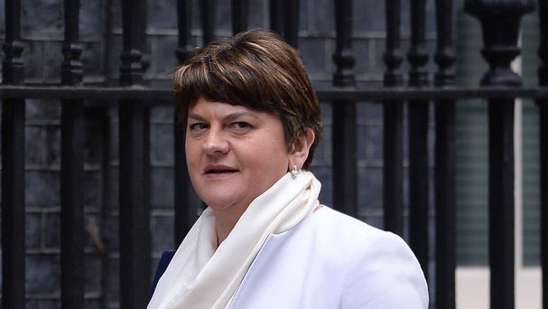 Arlene Foster was appearing before the Assembly scrutiny committee