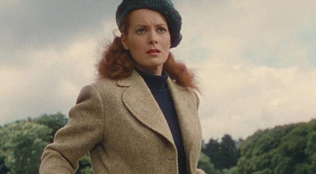 Maureen O'Hara wears the tweed jacket in The Quiet Man.