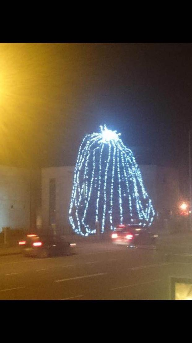 Lit up: The Castlereagh tree