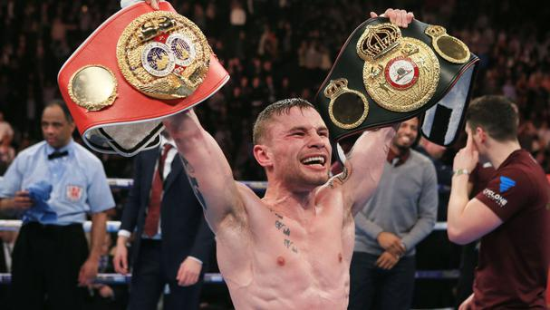 Carl Frampton unified super bantamweight world titles before moving up a division to win the WBA world featherweight title