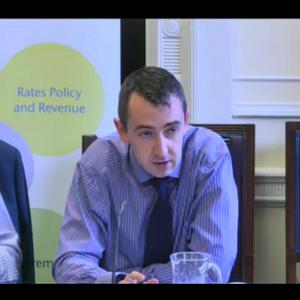 Daithi McKay speaking at a Stormont committee