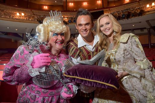 Cinderella stars May McFettridge, Gareth Gates and Jayne Wisener