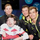 Jamie Donaldson with some of the Ulster players