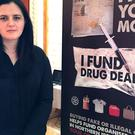Northern Ireland Justice Minister Claire Sugden in Parliament Buildings, Stormont, at the launch of a new public awareness campaign aimed at tackling organised crime