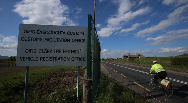 A disused customs post on the border between Dundalk in the Republic of Ireland and Newry in Northern Ireland