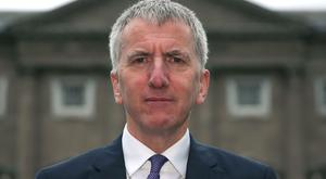 Northern Ireland finance minister Mairtin O Muilleoir outside Leinster House in Dublin where he appeared before the Oireachtas Jobs, Enterprise and Innovation committee.