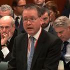 A grab taken from the televised live feed shows John Larkin, Attorney General for Northern Ireland speaking at the Supreme court on the second day of a hearing to decide whether or not parliamentary approval is needed before the government can begin Brexit negotiations on December 6, 2016 in London