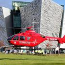 One of two helicopters that will deliver Northern Ireland's first Helicopter Emergency Medical Service