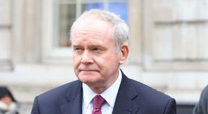 Martin McGuinness had been due to accompany First Minister Arlene Foster on a series of political and trade engagements in China this week