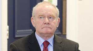 Martin McGuinness visited hospital