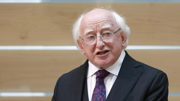 Ireland's President Michael D Higgins paid tribute to John Montague