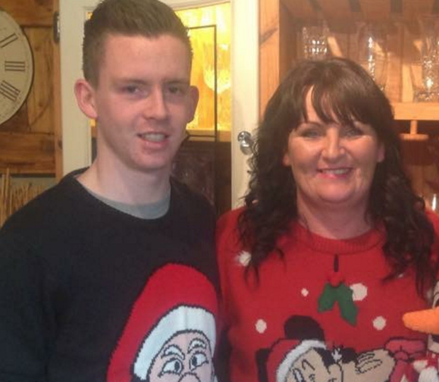 Killian Doherty with his mum Carmel Doherty and Neil McSorley