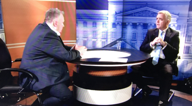 Jonathan Bell being interviewed by Stephen Nolan on Thursday