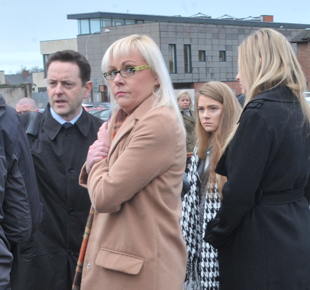 Ethna Walsh's family and solicitor outside court