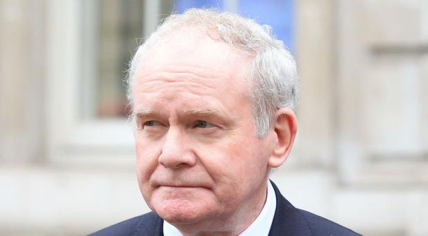 Deputy First Minister Martin McGuinness saying his party plans to bring a proposal to the Assembly for the First Minister Arlene Foster to stand aside to facilitate an independent investigation into the RHI scandal.