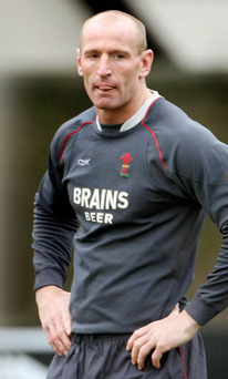 Rugby legend Gareth Thomas, the former Wales and Lions captain, who came out during his playing career