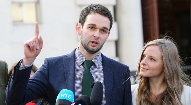 Daniel McArthur and his wife Amy at a previous court appearance