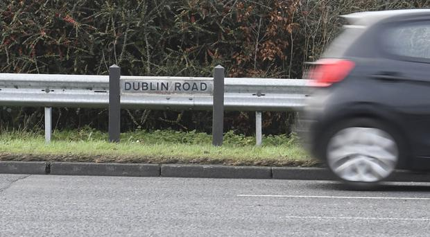 The stabbing occurred on Antrim's Dublin Road