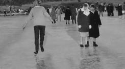 Dancers, dogs and even Mini drivers make their way onto the frozen Lough Neagh during the Big Freeze of 1963