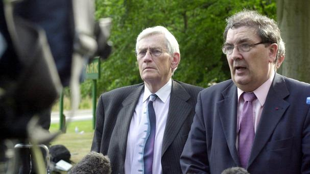 Seamus Mallon, left, and John Hume were fundamentally split on the definitive issue of a united Ireland