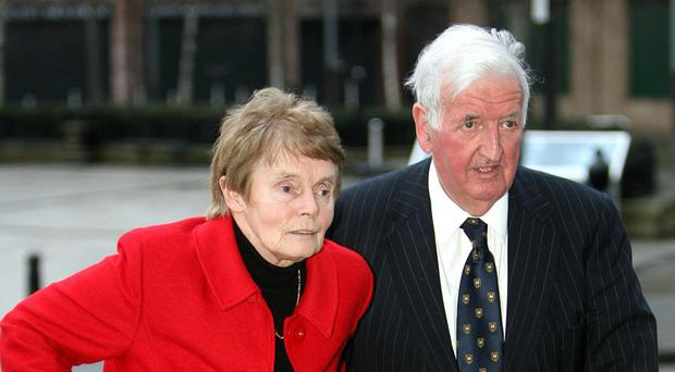 Sir Kenneth Bloomfield, seen here with his wife in 2008, was head of the Civil Service in Northern Ireland in 1986