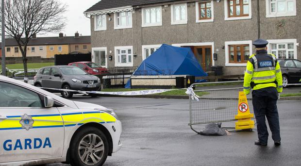 The scene of Noel Kirwan's murder in Dublin just before Christmas